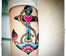 anchor tattoos colors
