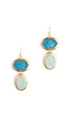 Druzy Dangle Earrings - love the colors!