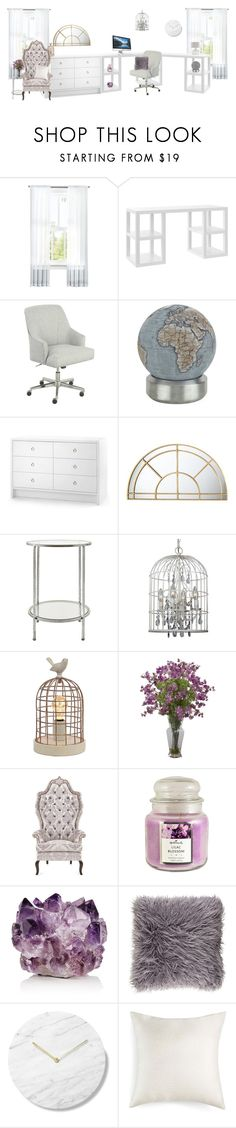 """Office"" by alexandra2707 ❤ liked on Polyvore featuring interior, interiors, interior design, home, home decor, interior decorating, Serta, Bellerby & Co, Bungalow 5 and Uttermost"