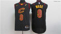 Nike Cavaliers  9 Dwyane Wade Black Stitched NBA Jersey 17deaa24d