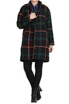 Hipsteration Womens Checked Coat Jacket With Zipper Green, M Hipsteration http://www.amazon.com/dp/B01AS61P2W/ref=cm_sw_r_pi_dp_E3eOwb147Q141
