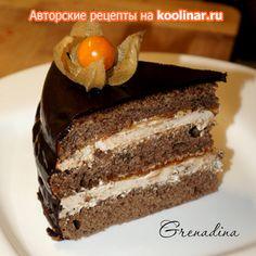 Торт Прага с абрикосовым джемом (для мультиварки-скороварки)