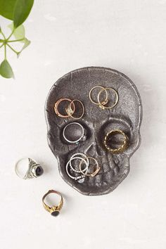 Cast Iron Skull Catch-All Dish- Black One from Urban Outfitters. Saved to Epic Wishlist.