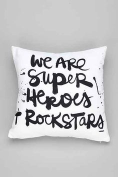 Kal Barteski For DENY Superheroes Pillow - Urban Outfitters