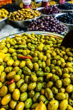 Try the most flavorful olives on the Carmel Market in Tel Aviv.