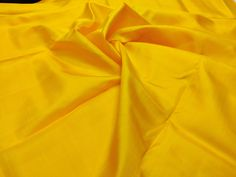 Goldenrod Mulberry Silk Fabric/100% Pure Silk Fabric, plain silk fabric made with handloom, Fabric by the yard. by TheSLVSilks on Etsy Dupioni Silk Fabric, Raw Silk Fabric, How To Dye Fabric, Cool Fabric, Scarf Curtains, Natural Protein, Silk Bedding, Mulberry Silk, 100 Pure
