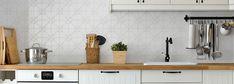 Anthology Windsor Pressed Metal Look Tiles! Ikea, Pressed Metal, Tile Trim, Feature Tiles, Character Home, Style Tile, Splashback, Building Materials, Kitchen Backsplash