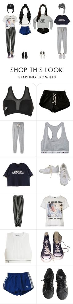 """Dace Practice version ∴ River City"" by outline-official ❤ liked on Polyvore featuring Leone 1947, Steven Alan, NIKE, Glamorous, Topshop, T By Alexander Wang, Converse, adidas and Blackfist"