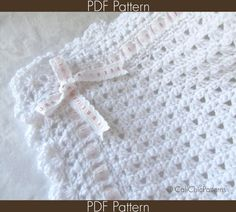 Crochet PATTERN 41  Angel Series  Crochet Baby Blanket