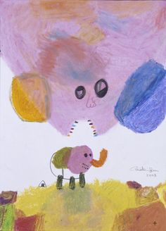 Chinatsu Ban/「How to Eat an Elephant: One Bite a Day Superflat, Asian Art, Japanese Art, Artworks, Elephant, Illustrations, Contemporary, Eat, Drawings