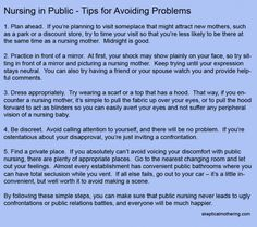 Tips for avoiding uncomfortable situations with nursing in public. Everyone should read!