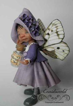 fairy puppets / fotogalerij | enaidsworld Christmas Vases, Biscuit, Clay Figurine, Barbie, Polymer Clay Crafts, Fairy Art, Fairy Dolls, Felt Dolls, Puppets