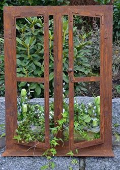 Garden Art, Garden Design, Rusty Garden, Garden Mirrors, Window Planters, Diy Chandelier, Garden Items, Garden Living, Garden Trellis