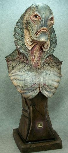 Gillman bust by ~mangrasshopper on deviantART