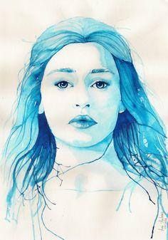 Daenerys Targaryen by anamorenita, via deviantart