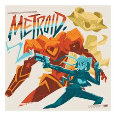 """princeofcake: """" I'm making some new prints for Anime Expo coming up in a couple of weeks (shit I'm running out of time). Here's the first of the lot. I pledge to have a new Metroid print every year, or my name isn't what my name is >:( """""""