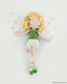 Fairy Crochet Doll Pattern - ENG - ESP - Fairy Amigurumi Doll Pattern, 14,5 inches - 37cm, Flower Fairy Crochet Doll Pattern Crochet Doll Pattern, Crochet Patterns, Diy Tutu, Crochet Hats, Cute Crochet, Fairy Dolls, Amigurumi Doll, Different Patterns, Diy Flowers