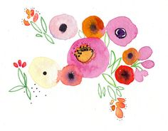 A new spring watercolor garden from Mai Autumn (because I miss my real garden!)