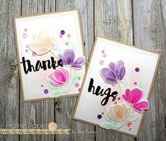 Simon Says Stamp floral shapes! The coordinating wafer dies are finally here!