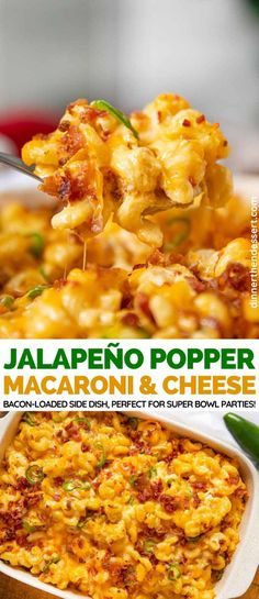 You Have Meals Poisoning More Normally Than You're Thinking That Jalapeno Popper Mac And Cheese Is A Loaded Spicy, Cheesy Super Bowl Side Dish With Bacon Spicy Mac And Cheese, Mac And Cheese Bites, Bake Mac And Cheese, Baked Mac And Cheese Recipe With Bacon, Mac And Cheese Casserole, Mac And Cheese Receta, Recipes With Bacon, Gourmet Mac And Cheese, Mac Cheese