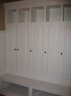 Mud Room, Built-In Wall Unit, Cabinets, Book Shelves, Desk ...