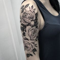 Rose half sleeve tattoo for girl - 100 Meaningful Rose Tattoo Designs , ., Rose half sleeve tattoo for girl - 100 Meaningful Rose Tattoo Designs , . Rose half sleeve tattoo for girl - 100 Meaningful Rose Tat. Arm Sleeve Tattoos For Women, Rose Tattoos For Women, Best Sleeve Tattoos, Tattoo Sleeve Designs, Arm Tattoos For Women Upper, Girl Tattoo Designs, Upper Leg Tattoos, Quarter Sleeve Tattoos, Beautiful Tattoos For Women