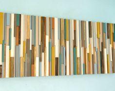 """Rustieke kunst aan de muur, teruggewonnen hout kunst 20 """"x 50"""", natuurlijke"""