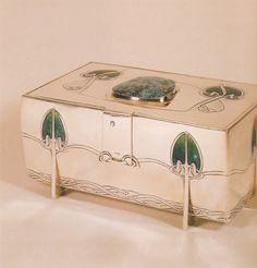 Archibald Knox for Liberty Mackintosh Design, Archibald Knox, Jugendstil Design, Celtic Art, Art Nouveau Jewelry, Arts And Crafts Movement, Art Deco Design, Casket, Antique Items