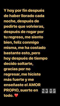 🙃 Sígueme como Merarí García 💣 tengo mucho contenido que te gustará Tumblr Quotes, Text Quotes, Life Quotes, Happy Alone, Quotes En Espanol, Love Phrases, Sad Love Quotes, Love Messages, Spanish Quotes