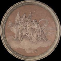 *Virtue and Abundance Giovanni Battista Tiepolo and Workshop  (Italian, Venice 1696–1770 Madrid).  Date:     1760. Medium:     Fresco, transferred to canvas.
