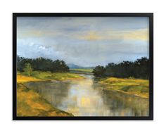 """Glass River"" - Art Print by Stephanie Goos Johnson in beautiful frame options and a variety of sizes."