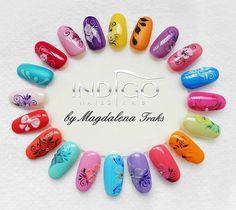 by Magdalena Traks Indigo Nails Lab - Find more Inspiration at www.indigo-nails.com #Nail #Flower #Mani