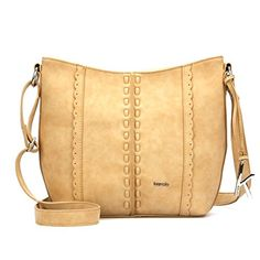 Womens Kensie Bora Bora Medium Crossbody Shoulder Bag Purse Tan *** You can find more details by visiting the image link.Note:It is affiliate link to Amazon.