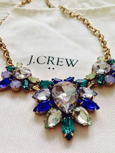 J. Crew statement necklaces are the perfect way to refresh your favorite little black dress.