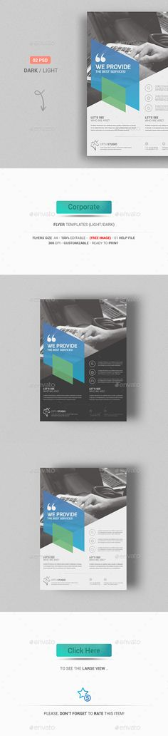 Corporate Flyer Template PSD #design Download: http://graphicriver.net/item/corporate-flyer/13161252?ref=ksioks