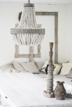 Beaded + Shell Chandeliers - decor8                                                                                                                                                                                 More