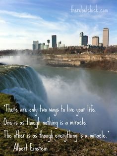 I Love It!! :)big qoutes about life | at the edge of Niagara Falls with my daughter. If waterfalls this big ...
