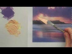 How to colour match an acrylic landscape painting - mixing paint colour