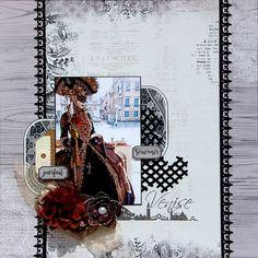 Page carnaval de Venise - Collection broderies oxydées