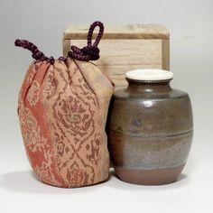 Vintage Seto Chaire - Japanese Pottery Tea Caddy Suda w/box by Suda Shoho #2048 - ChanoYu online shop