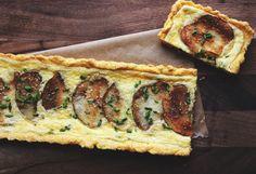 Potato and Rosemary-Mascarpone Tart with a Polenta Crust. - Leaf Parade.
