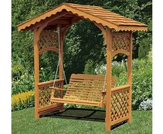 Excellent Gardening Ideas On Your Utilized Espresso Grounds Covered Garden Swing. Backyard Swings, Backyard Landscaping, Garden Swings, Garden Benches, Backyard Projects, Outdoor Projects, Garden Structures, Outdoor Structures, Arbor Swing