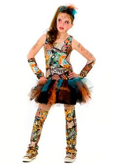 Try Graffiti Girl Tween Costume. Exclusive variety For Costumes for Halloween at PartyBell.