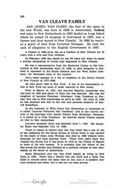 Gosney family records, 1740-1940, and related families by Georgia Gosney Wisda has Van Cleave history starting on page 258 http://babel.hathitrust.org/cgi/pt?id=wu.89062879564;view=1up;seq=264