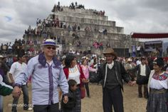 """Zaculeu - Monsignor Alvaro Ramazzini, dressed in a traditional Todos Santos Cuchumatán outfit (left), dances during the CPO's alternative event. Monsignor Ramazzini, well-know advocate of self-determination by Guatemala's indigenous communities and Bishop of Huehuetenango since July 2012, declares: """"I am sad to see that the government is holding a simultaneous event just a few meters from us. It is sad because what the country really needs is a radical democracy.."""" by @mimundo_org"""