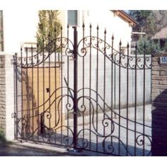 Wrought Iron Driveway Gate. Customize Realisations. 051 Wrought Iron Driveway Gates, Entrance Gates, Stairs, Home Decor, Ebay, Art, Stairway, Decoration Home, Entry Gates