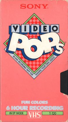 SONY Video Pops #80s #design #retro #vhs