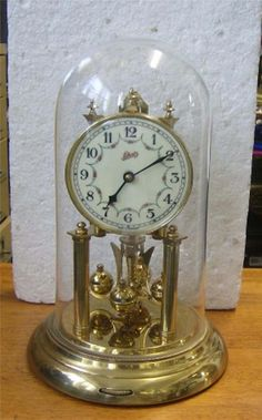 Vintage Ship Tempete Bronze French Sailor Alarm Carriage Clock