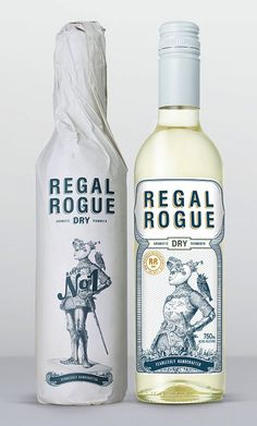 Introducing Regal Rogue, a unique Australian aromatic vermouth. Yup, an Australian vermouth. The wrap of the bottle is printed on our very own Envirocare Recycled and designed by Squad Ink in Sydney. Label Design, Packaging Design, Graphic Design, Gins Of The World, Vintage Picnic, In Vino Veritas, Wine Label, Bottle Design, Rogues