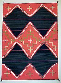 Louie Ewing Serigraph WPA Navajo Blankets